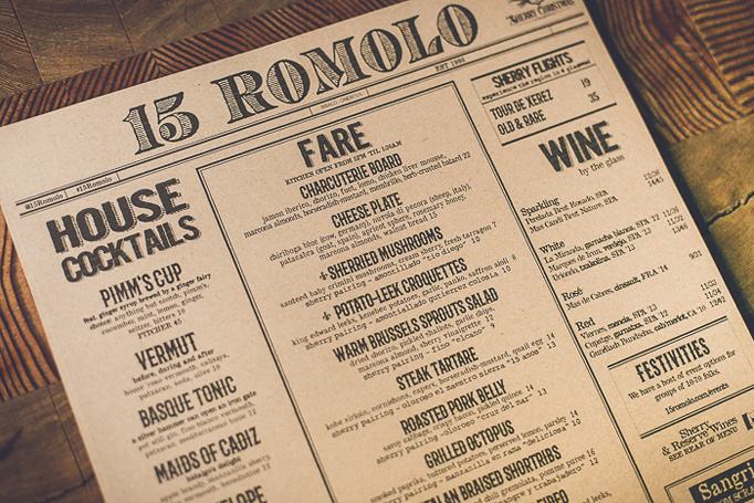 15 Romolo Menu by Balthazar Media