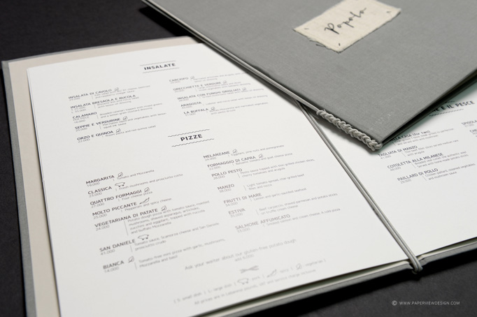 Popolo Menu by Paperview
