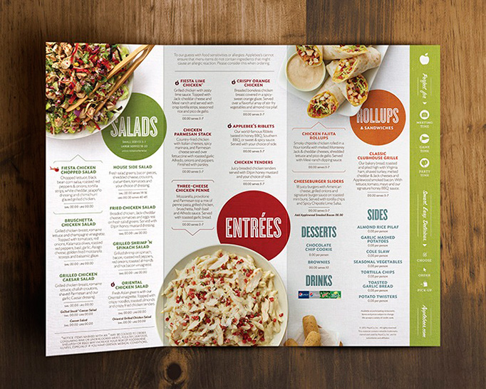 Art of the menu applebee s anywhere for Artistic cuisine menu