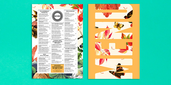 Batinse Menu by Deux & Quatre