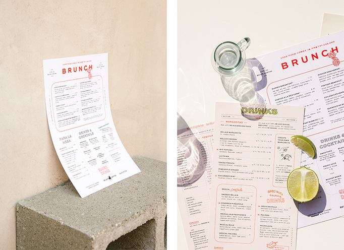 Belair Cantina Menus by Project M Plus
