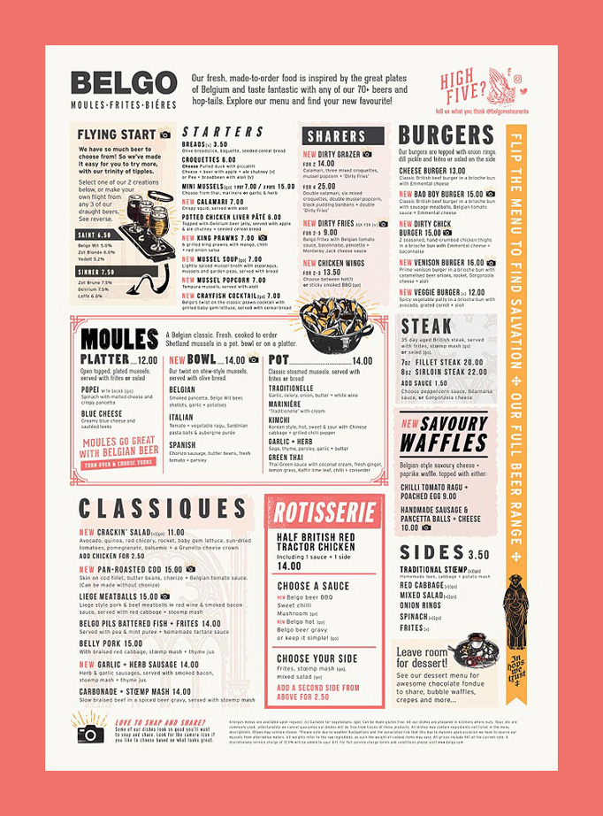 Belgo Menu by Eat With Your Eyes