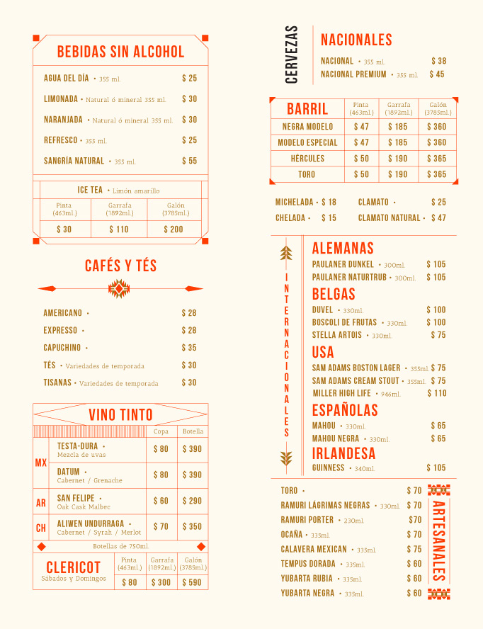 Berraco Menu by Abraham Lule