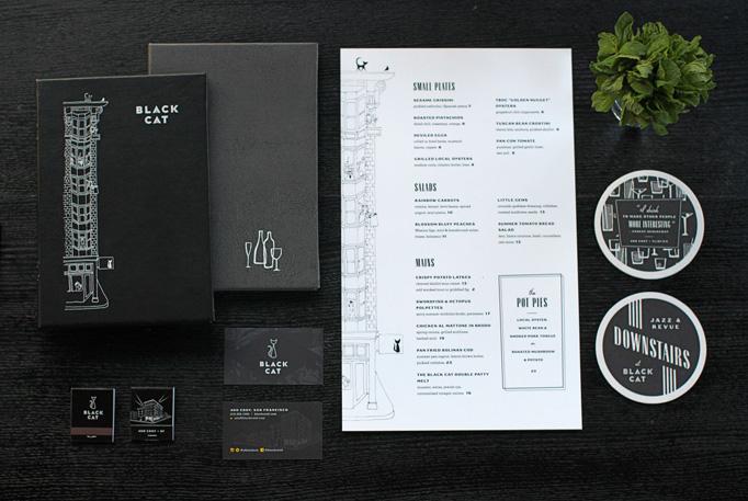 Black Cat Menu by VK Design