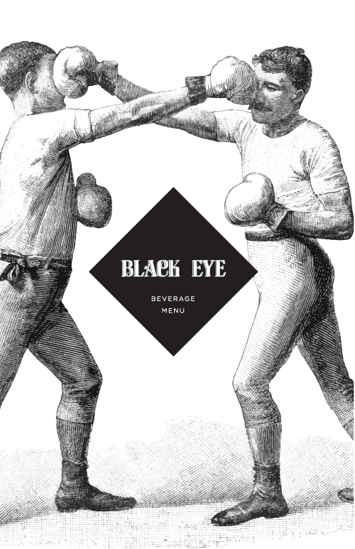 Black Eye Coffee Menu by Consume and Create