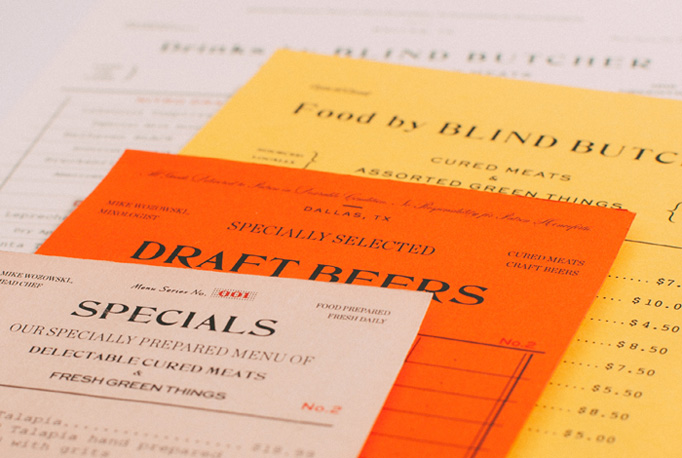 Blind Butcher Menu by Tractorbeam