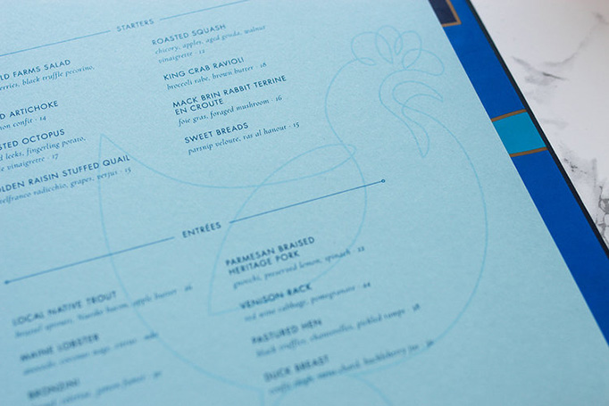 Blue Hen Menu by Might & Main