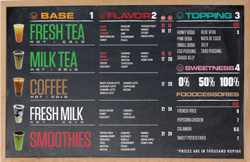 Art of the Menu: Boba