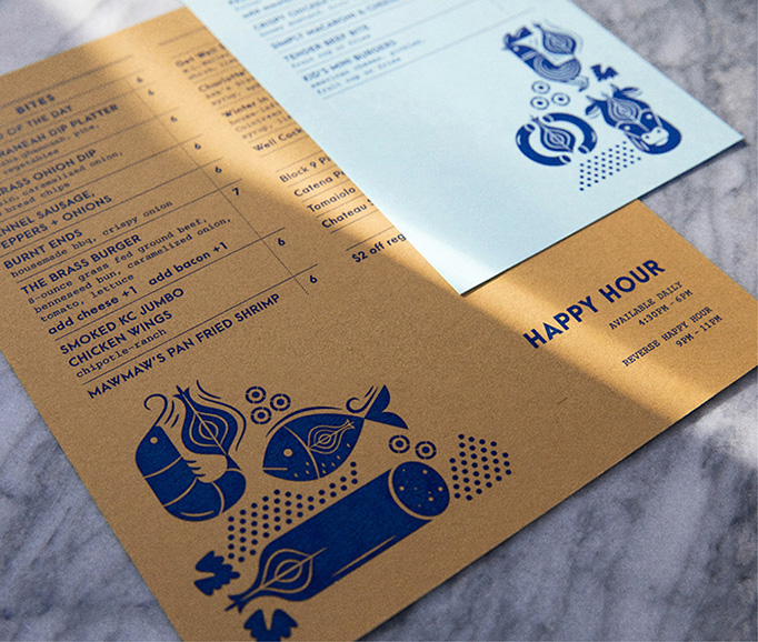Brass Onion Menu by Carpenter Collective