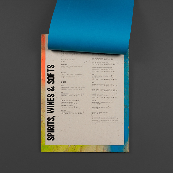 Brewdog Bar Menu by O Street