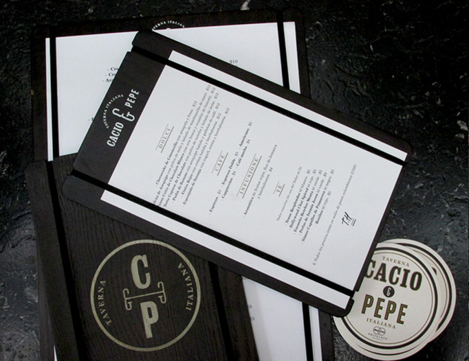 Cacio e Pepe Menu by Arutza Design Studio