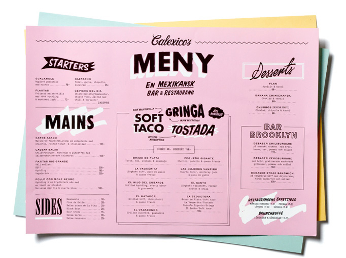Art of the menu best