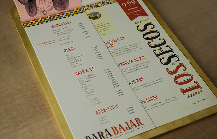 Casa 9·69 Menu by Cuántika Studio