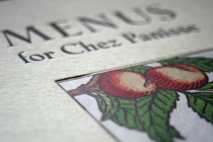 Menus for Chez Panisse