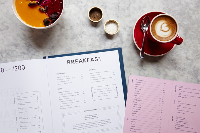 Clerkenwell Grind Menu by Studio Thomas