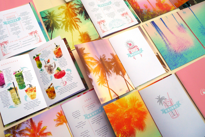 Continental Miami menu by de Vicq Design