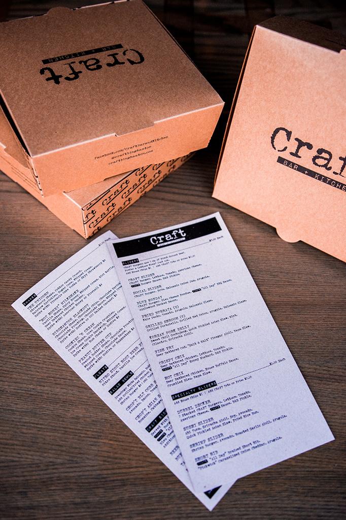 Craft Bar + Kitchen Menu by Idea Kraft