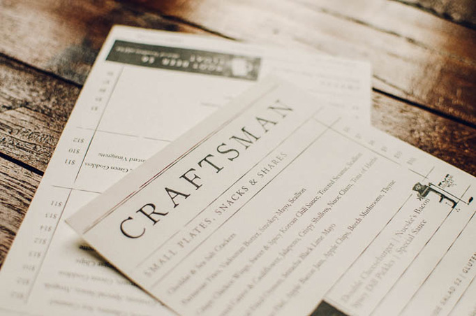 Craftsman Menu by 970 Design