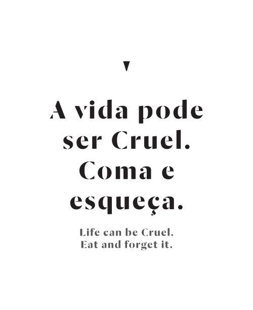 Cruel Menu by Inês Vieira