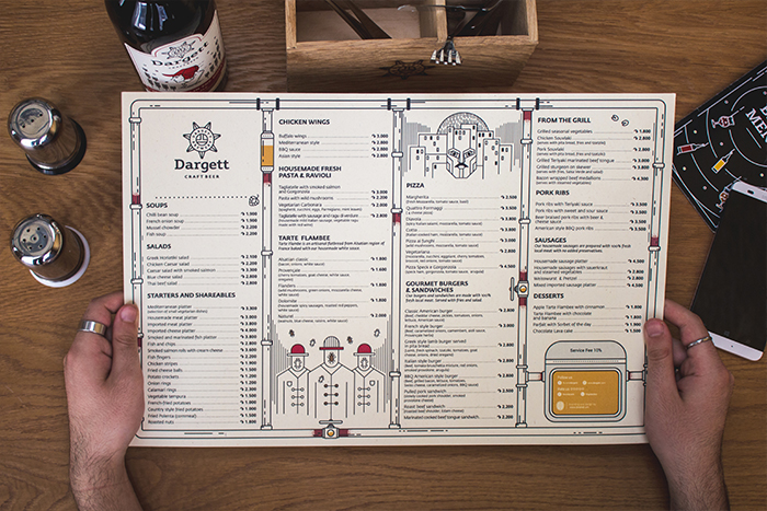 Dargett Menu by Braind Company