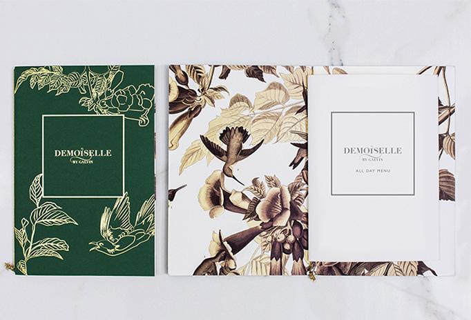 Demoiselle by Galvin Menu by DesignLSM
