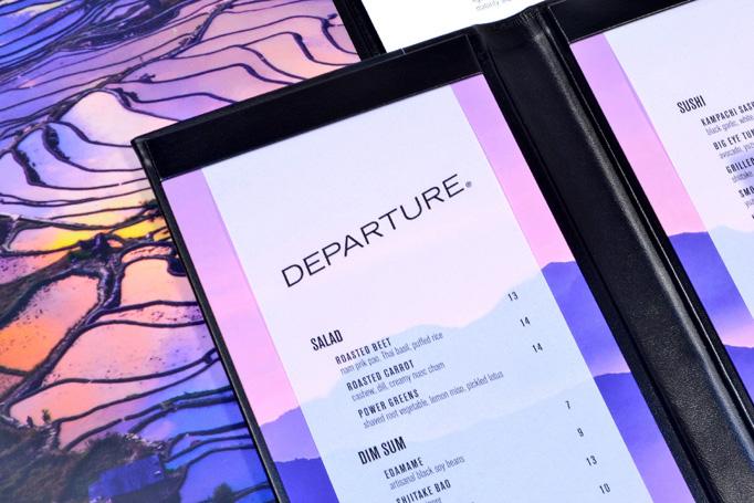 Departure Menu by Melissa Wehrman