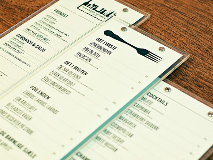 art of the menu for enden af gaden