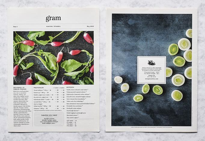 Gram Menu by Atelier Neşe Nogay