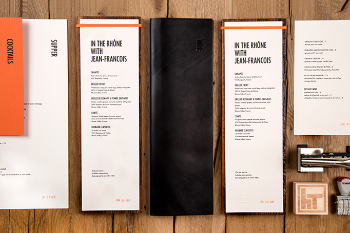 Harper's Table Menu by Selman Design