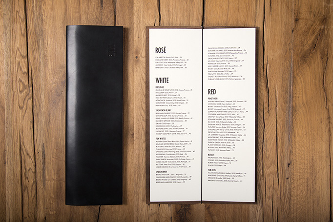 Harper's Table Menu by Selman Design