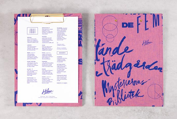 Hilma Menu by Magdalena Czarnecki