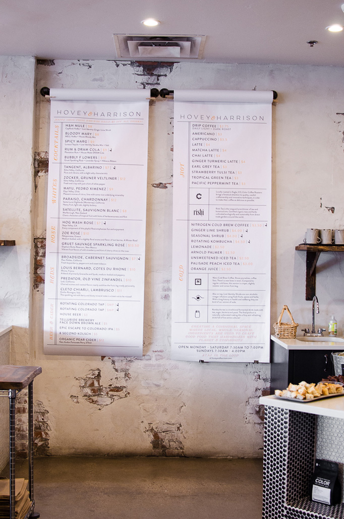 Hovey and Harrison Menu by 970 DESIGN