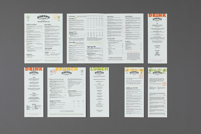 Joseph's Pizza Menu by Temper