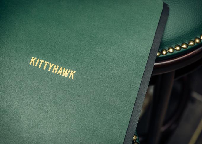 Kittyhawk Menu by Gemma Warriner