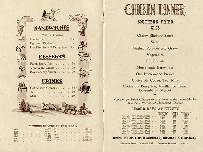 Art of the Menu Chicken Dinner Restaurant