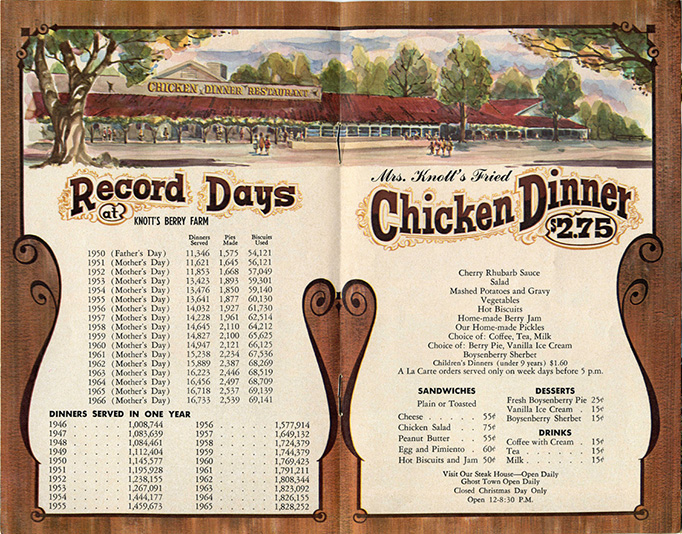 Knott's Berry Farm Chicken Dinner Restaurant