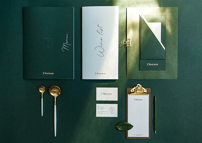 L'Avenue Menu by Studio Frisch