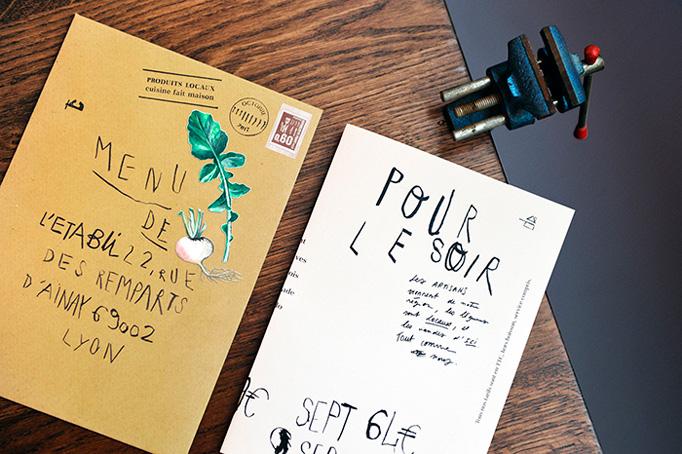 L'Établi Menu by Camille Boileau