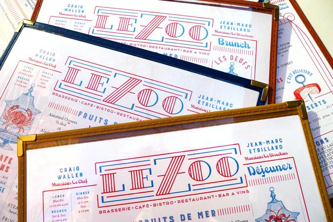 Le Zoo Menu by DeVicq Design