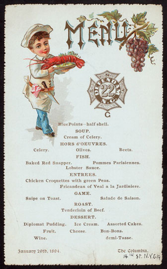 Miss Frank E. Buttolph American Menu Collection
