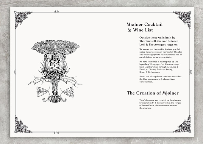 Mjølner Carvery and Whisky Bar Menu by Gemma Warriner and Katie Dean