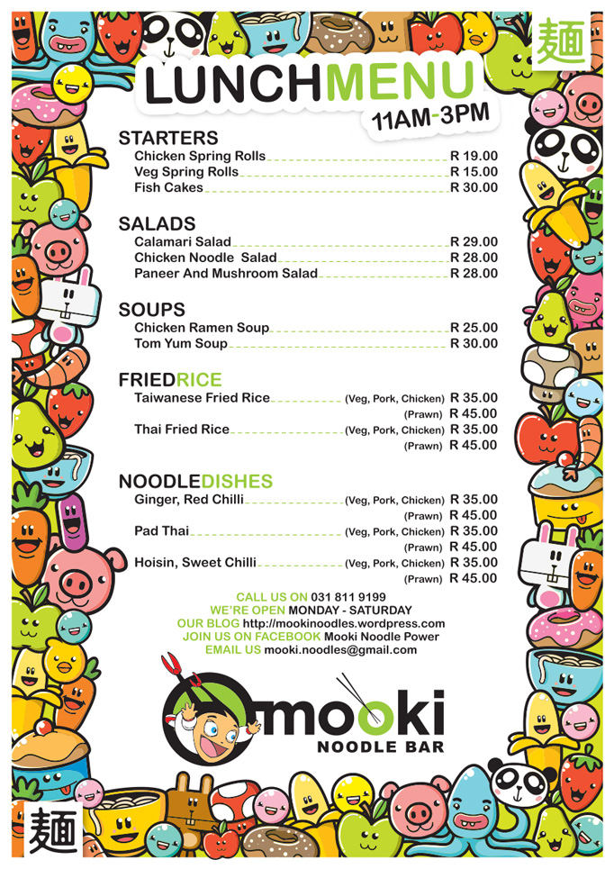 Art of the Menu: Mooki Noodle Bar