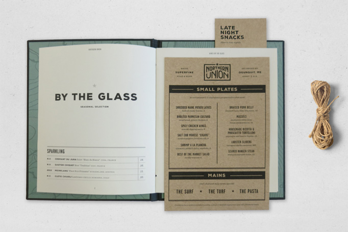 Northern Union Menu by Magnifico Design