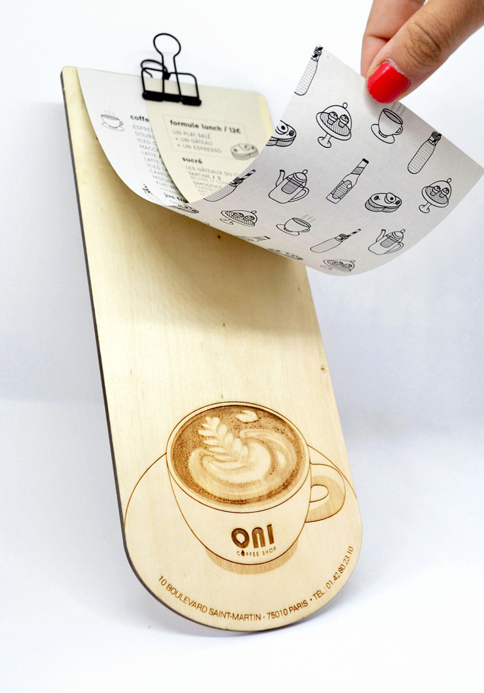 ONI Coffee Shop Menu by Festin studio