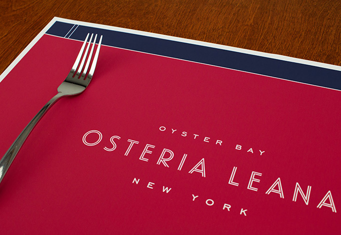 Osteria Leana Menu by Robert Finkel