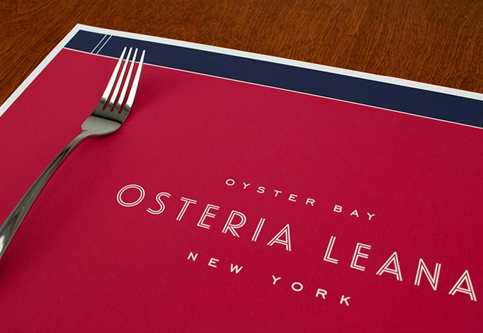 Osteria Leana Menu by Robert Finkel