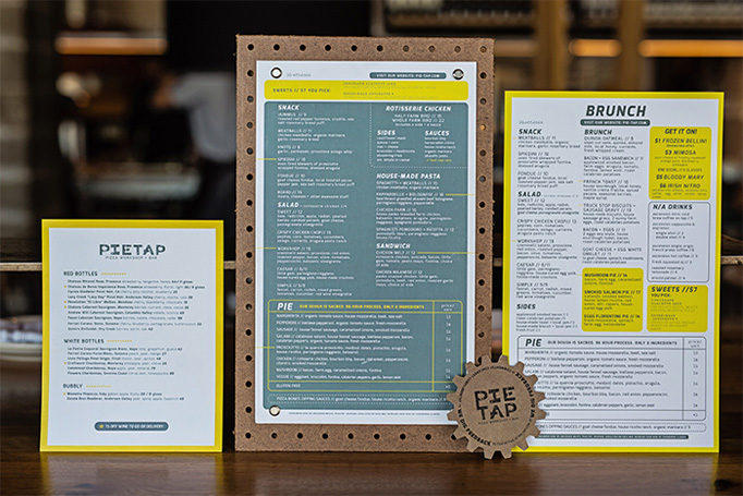 Pie Tap Menu by Plan B Group