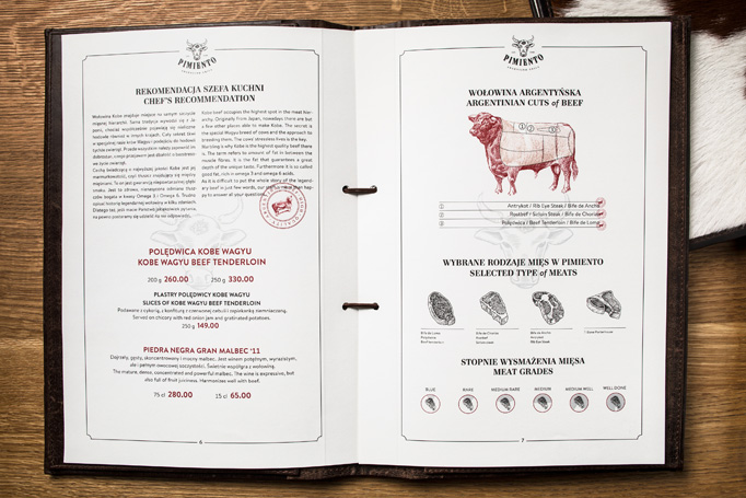 Pimiento Argentino Grill Menu by Blürb Studio
