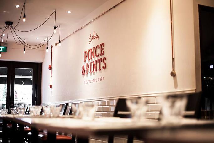 Art of the menu pince pints