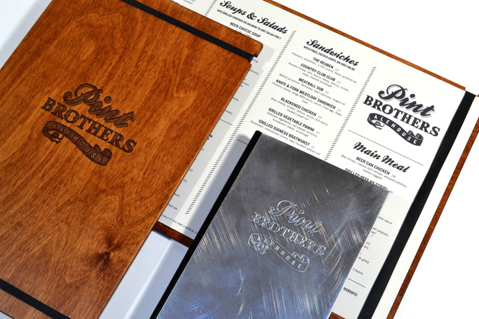 Pint Brothers Menu by Melissa Wehrman